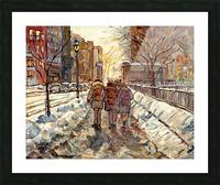 MONTREAL WINTER SCENE MCGILL WINTER WALK NEAR RODDICK GATES Picture Frame print