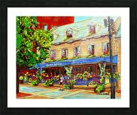 LE JARDIN NELSON OLD MONTREAL RESTAURANT SUMMER STREET SCENE Picture Frame print