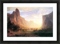 Yosemite Valley 3 by Bierstadt Picture Frame print