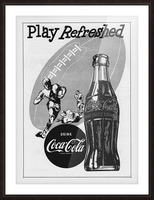1952 Vintage Coke Football Ad Poster Picture Frame print