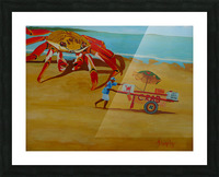 Crab Food Vendor Picture Frame print