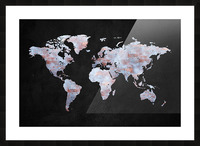 Artistic World Map XII Picture Frame print