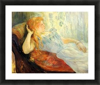 Young girl resting -2- by Morisot Picture Frame print