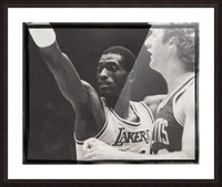 Michael Cooper and Larry Bird Film Strip Picture Frame print
