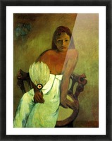 Young Girl with Fan by Gauguin Picture Frame print