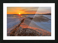 Icy Sunset  Naubinway Michigan Picture Frame print