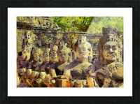 CAMBODIA Angkor Wat oil painting in Vincent van Gogh style. 141 Picture Frame print