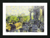 CAMBODIA Angkor Wat oil painting in Vincent van Gogh style. 130 Picture Frame print