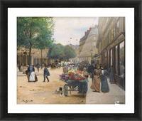 Flower seller in the central market Picture Frame print