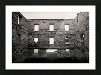 Stone Structure Picture Frame print
