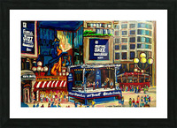 MONTREAL JAZZ FESTIVAL SUMMER EVENT Picture Frame print