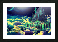 Castle In The Clouds Picture Frame print