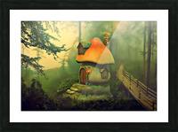 Mushroom Cottage Picture Frame print