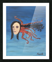 Psychoanalysis Portrait Picture Frame print