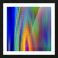 psychedelic wave Picture Frame print