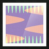 purple path Picture Frame print