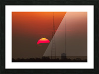 KCMO Tower Sunset  Picture Frame print