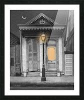 French Quarter Lamp Light Picture Frame print