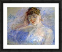 Young woman in white by Morisot Picture Frame print