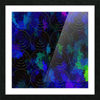 Blue Splash Wings Picture Frame print