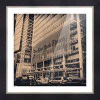 New York Times Picture Frame print
