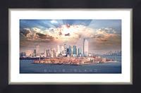 Ellis Island Picture Frame print