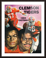 1983 Clemson Tigers Football Poster Picture Frame print