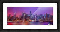 Yorkirius - Abstract skyline Picture Frame print