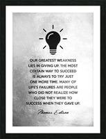 Thomas Edison Motivational Wall Art Picture Frame print