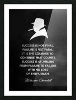 Winston Churchill Motivational Wall Art Picture Frame print