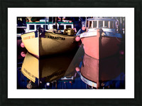 Moored Fishing Boats Picture Frame print