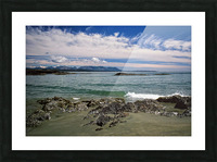 Peaceful Pacific Beach Picture Frame print