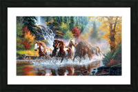 Galloping River Picture Frame print