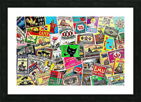 Matchbox Label Collage Picture Frame print