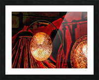 Energy Of Gongs Picture Frame print