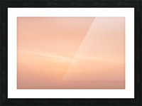 Pastel clouds Picture Frame print