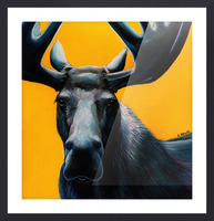 Moose Picture Frame print