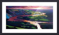 Peace River Setting Sun Picture Frame print