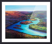 Fall Arrives at Peace River Picture Frame print