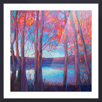 Autumn at the Lake Picture Frame print