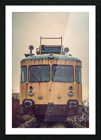 Junkyard train Picture Frame print