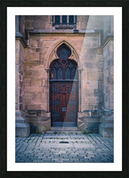 Gothic entrance Picture Frame print