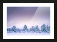Winter landscape Picture Frame print