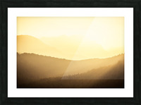 Mountain sunrise Picture Frame print