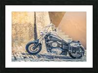 Chopper cruiser motorbike Picture Frame print