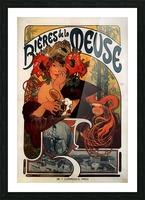 Bieres de la Meuse by Alphonse Mucha Picture Frame print