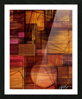 ABSTRACT-1512 Integration Picture Frame print