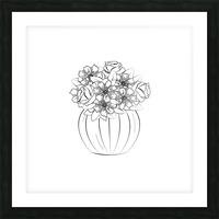 Flower bouquet  Picture Frame print