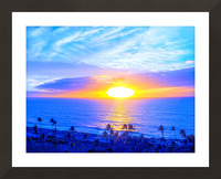 Rainbow Sunset in the Tropics   Hawaii Picture Frame print
