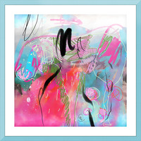 Summer Resort Abstract  Picture Frame print